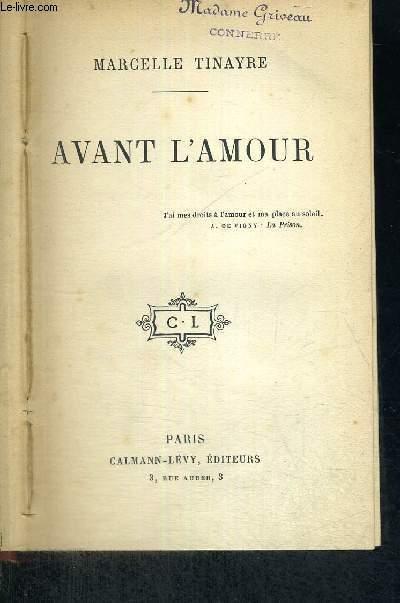 AVANT L'AMOUR