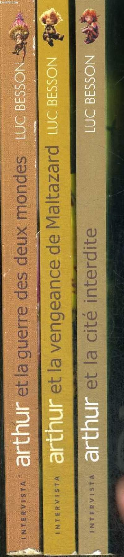 ARTHUR ET LES MINIMOYS : 3 VOLUMES : ARTHUR ET LA GUERRE DES DEUX MONDES - ARTHUR ET LA VENGEANCE DE MALTAZARD - ARTHUR ET LA CITE INTERDITE