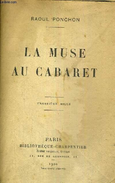 LA MUSE AU CABARET
