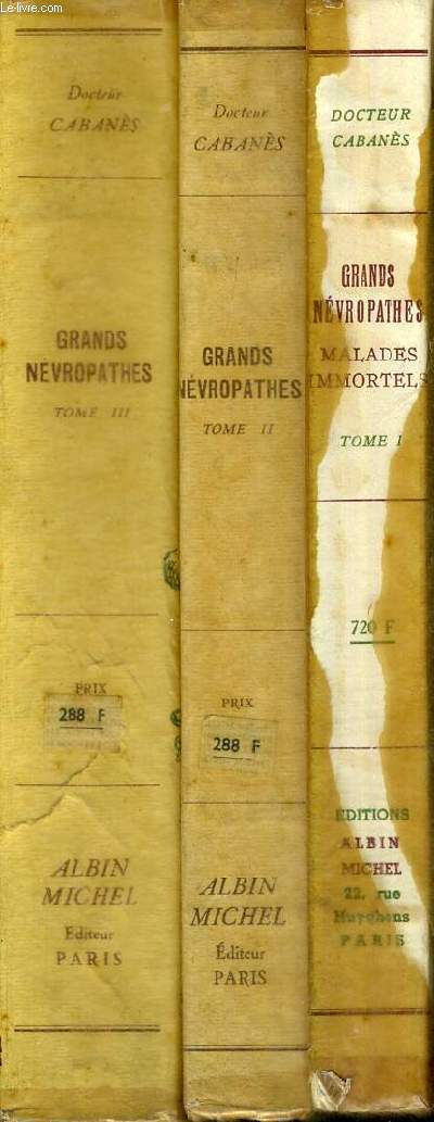 GRANDS NEVROPATHES - 3 VOLUMES - TOMES 1 A 3