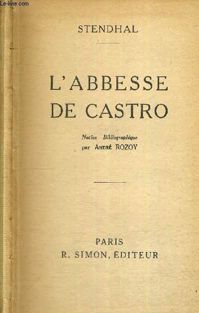 L'ABESSE DE CASTRO