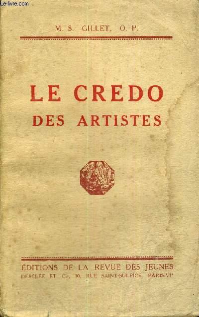 LE CREDO DES ARTISTES