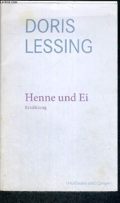HENNE UND EI - EINE ERZAHLUNG - LIVRE EN ALLEMAND