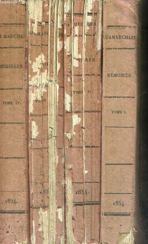 MEMOIRES DE BEAUMARCHAIS - 4 VOLUMES - TOMES 1 A 4