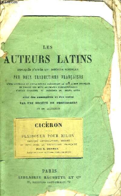 LES AUTEURS LATINS - EXPLIQUES D'APRES UNE METHODE NOUVELLE PAR DEUX TRADUCTIONS FRANCAISES - L'UNE LITTERALE ET JUXTALINEAIRE PRESENTANT LE MOT A MOT FRANCAIS EN REGARD DES MOTS ALLEMANS CORRESPONDANTS - L'AUTRE CORRECTE ET PRECEDEE DU TEXTE LATIN