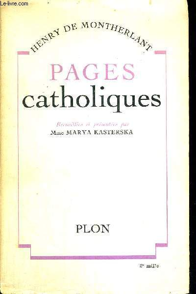 PAGES CATHOLIQUES