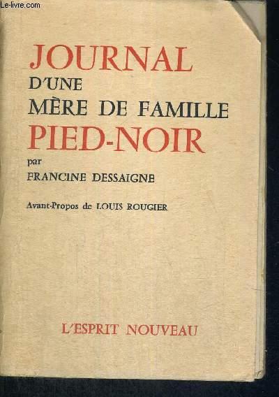 JOURNAL D'UNE MERE DE FAMILLE PIED-NOIR