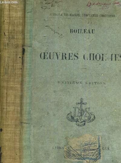 OEUVRES CHOISIES - 8EME EDITION ANNOTEE PAR M. L'ABBE J.C.- ALLIANCE DES MAISONS D'EDUCATION CHRETIENNE