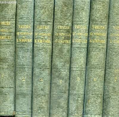 HISTOIRE DU CONSULAT ET DE L'EMPIRE  - FAISANT SUITE A L'HISTOIRE DE LA REVOLUTION FRANCAISE - 20 VOLUMES - TOMES 1 A 20