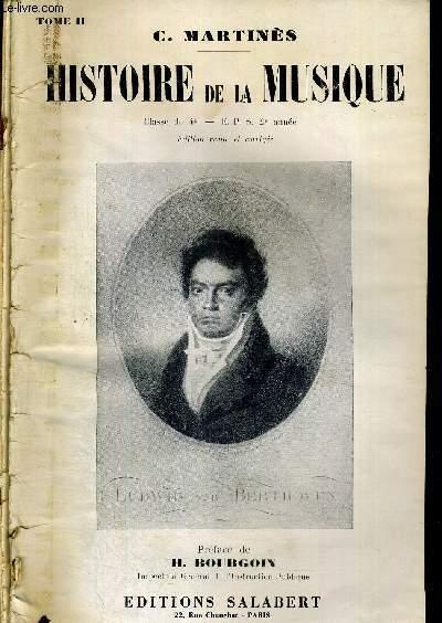 HISTOIRE DE LA MUSIQUE - 2 VOLUMES - TOMES 1 ET 2