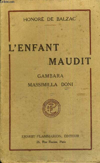 L'ENFANT MAUDIT -  GAMBARA - MASSIMILLA DORI