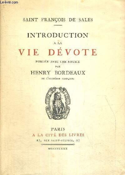 INTRODUCTION A LA VIE DEVOTE