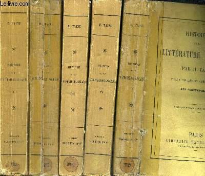 HISTOIRE DE LA LITTERATURE ANGLAISE -  5 VOLUMES - TOMES 1 A 5 - 4EME EDITION