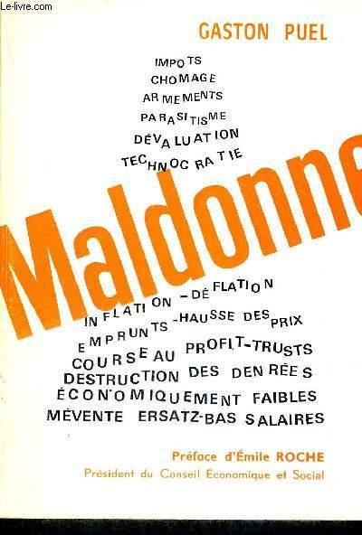MALDONNE + HOMMAGE DE L'AUTEUR