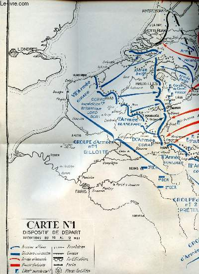SOIXANTE JOURS QUI EBRANLERENT L'OCCIDENT- 10 mai au 10 juillet 1940