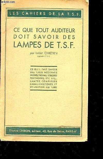 CE QUE TOUT AUDITEUR DOIT SAVOIT DES LAMPES DES T.S.F. /