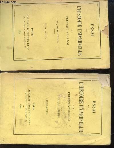 ESSAI SUR L'HISTOIRE UNIVERSELLE - EN 2 VOLUMES : TOME PREMIER ET TOME SECOND / 5eme EDITION.