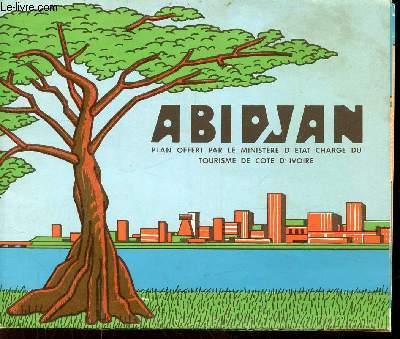 1 CARTE DEPLIANTE EN COULEUR : ABIDJAN -