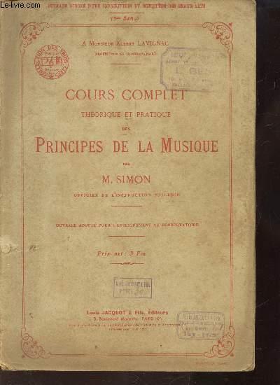 13 EME EDITIONCOURS COMPLET THEORIQUE ET PRATIQUE DES PRINCIPES DE LA MUSIQUE