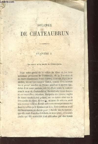 SOLANGE DE CHATEAUBRUN