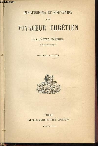 IMPRESSIONS ET SOUVENIRS D'UN VOYAGEUR CHRETIEN