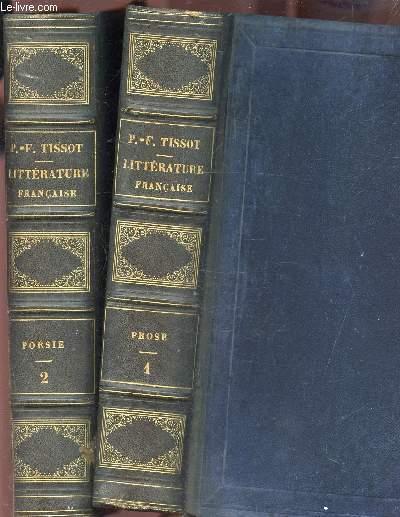LECONS ET MODELES DE LITTERATURE FRANCAISE ANCIENNE ET MODERNE  - EN 2 VOLUMES : TOMES 1 + 2 : PROSE ET POESIE.