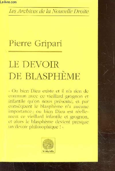 LE DEVOIR DE BLASPHEME