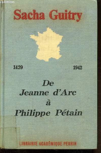 DE JEANNE D'ARC A PHILIPPE PETAIN