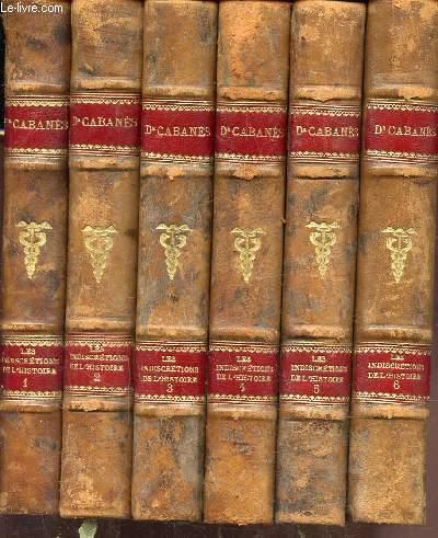 LES INDISCRETIONS DE L'HISTOIRE - 6 VOLUMES