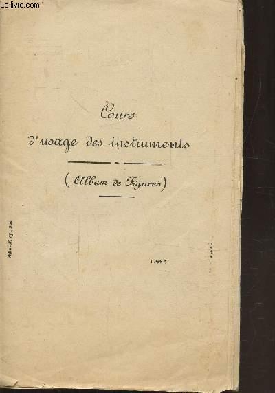 COURS D'USAGE DES INSTRUMENTS DE NAVIGATION - ( ALBUM DE FIGURES)