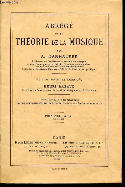 ABREGE DE LA THEORIE DE LA MUSIQUE - 22247H - OCTOBRE 1937