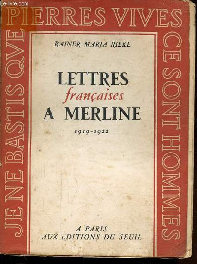 LETTRES FRANCAISE A MERLINE 1919 - 1922