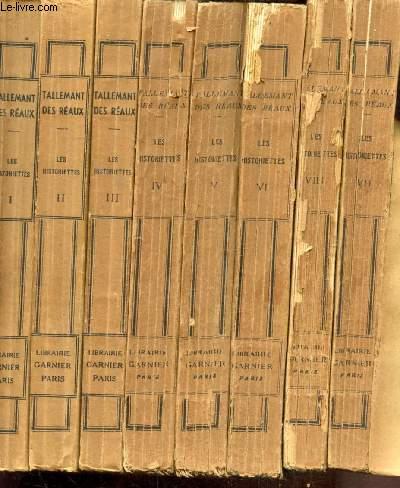 LES HISTORIETTES DE TALLEMANT DES REAUX - 8 TOMES