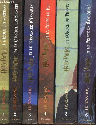HARRY POTTER - TOMES 1 A 6 -