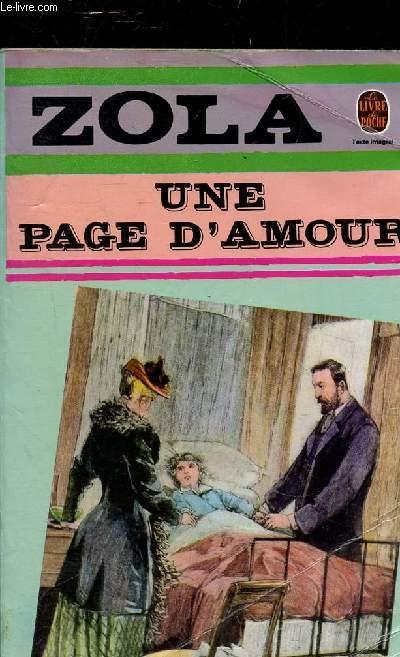 UNE PAGE D'AMOUR - COLLECTION LE LIVRE DE POCHE N°681.