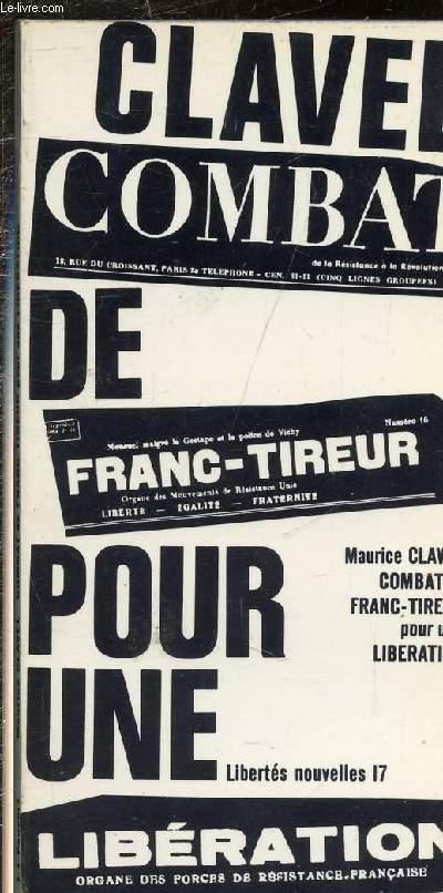 COMBAT DE FRANC-TIREUR POUR UNE LIBERATION