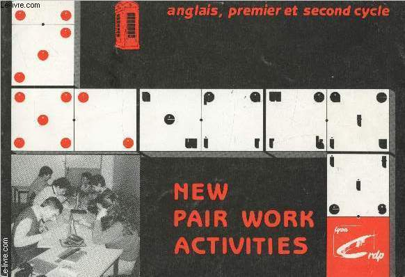 anglais premier et second cycle - New pair work activities -