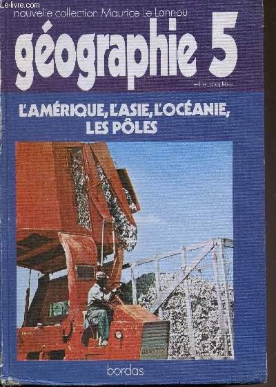 L'amérique - L'Asie - L'Océanie - Les pôles - Receuil de documents géographiques - Classes de 5e -