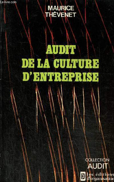 Audit de la culture d'entreprise , collection audit