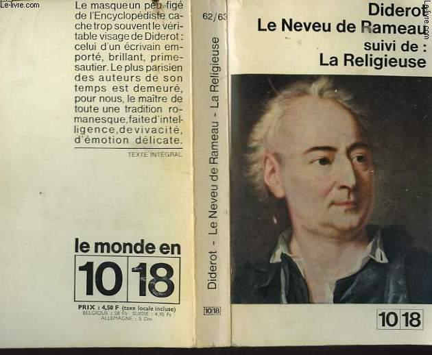 LE NEVEU DE RAMEAU suivi de:LA RELIGIEUSE