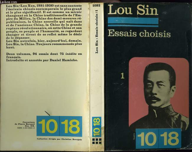 ESSAIS CHOISIS TOME 1.