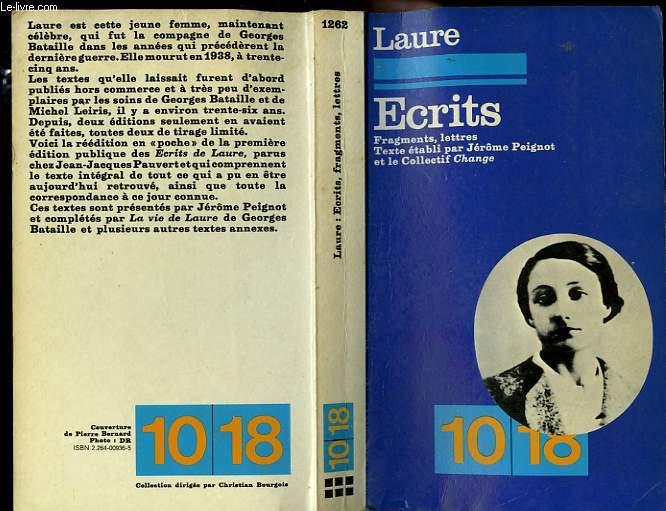 ECRITS. FRAGMENTS-LETTRES.