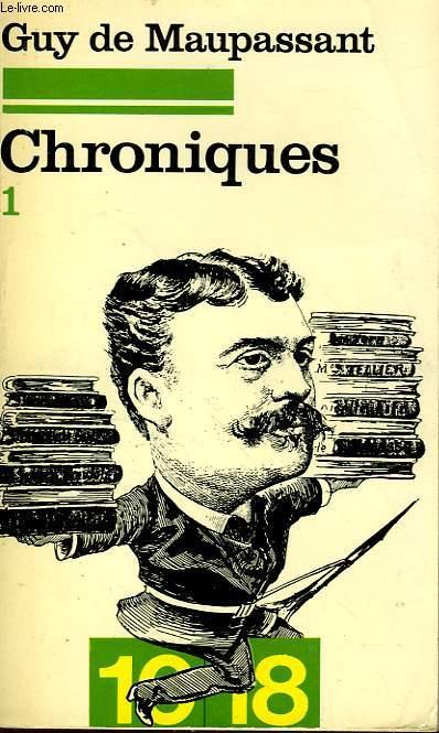CHRONIQUES TOME 1 622 OCTOBRE 1876 - 23 FEVRIER 1882