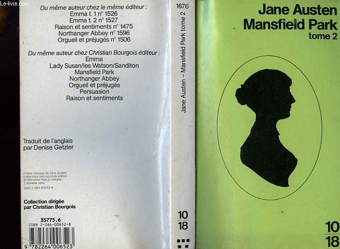 MANSFIELD PARK TOME 2.