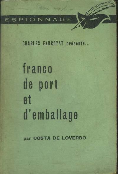 FRANCO DE PORT ET D' EMBALLAGE