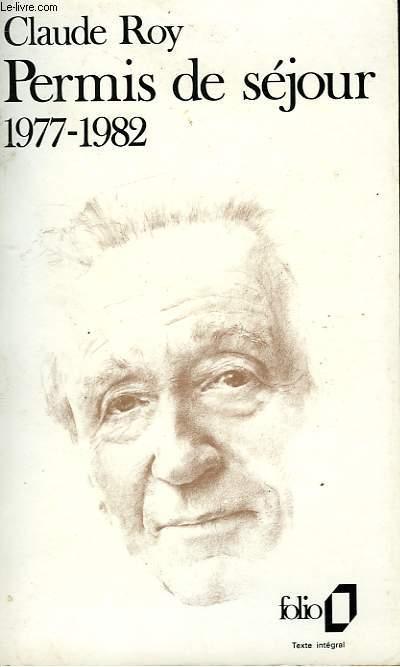 PERMIS DE SEJOUR 1977-1982