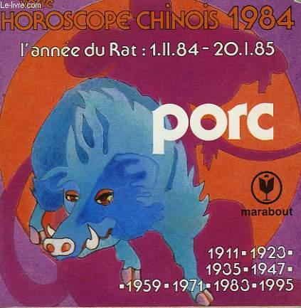 HOROSCOPE CHINOIS - SIGNE DU PORC