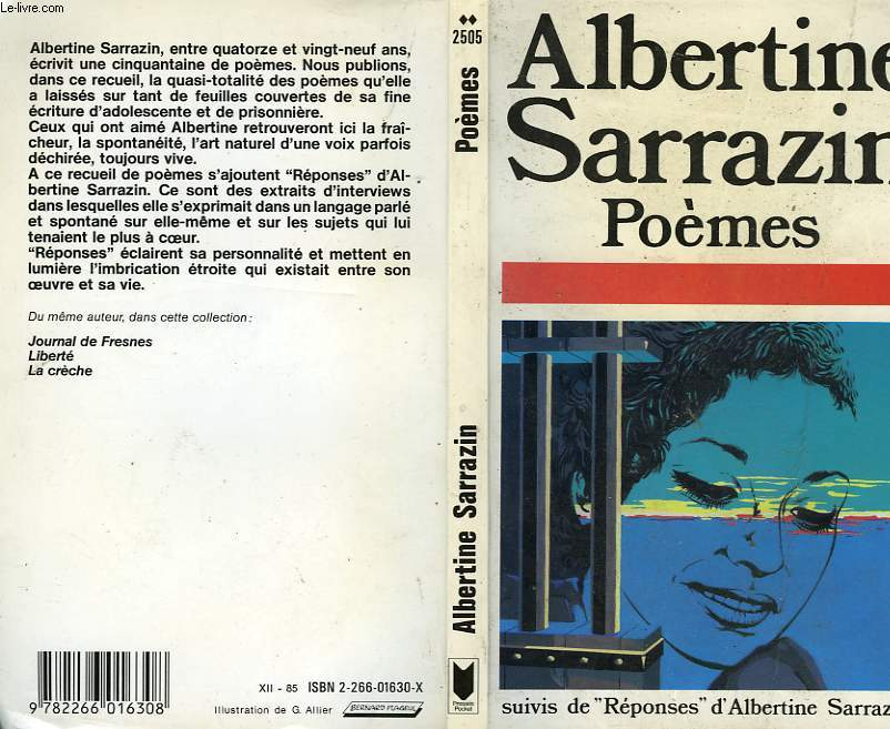 POEMES suivi de REPONSES D'ALBERTINE SARRAZIN