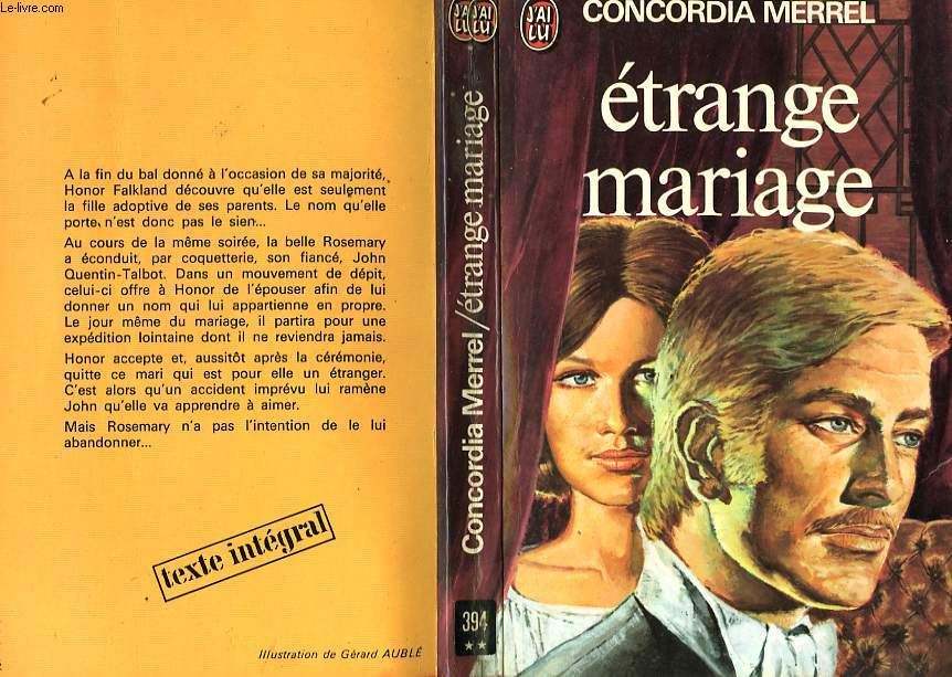ETRANGE MARIAGE - THE GIRL WITH NO NAME