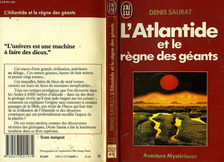 L'ATLANTIDE ET LE REGNE DES GEANTS